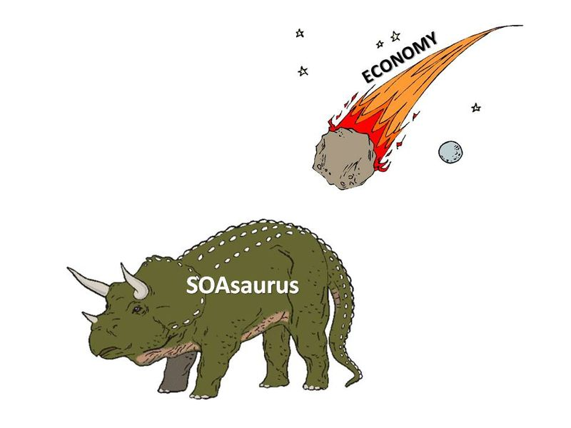 SOA hit by meteor